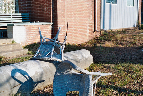 Chairs askew | by Nolan Caudill