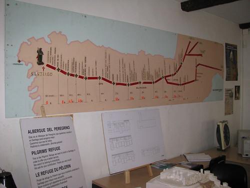 Mapa del camino en oficina del peregrino santiago mapa for Oficina del peregrino