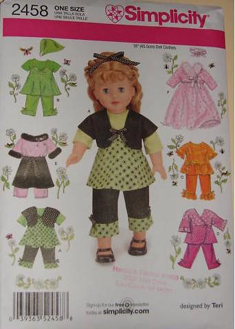 Free 18 Inch Doll Clothes Sewing Patterns Image collections ...