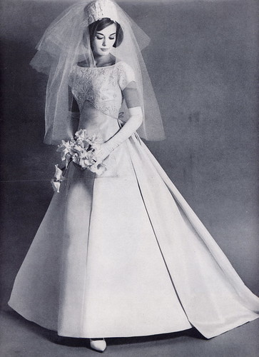 Pillbox veil bride millie motts flickr Wedding dress 1960