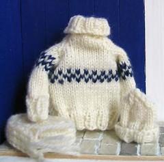 A striped sweater