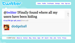 Ha! Just re-discovered the fake-Twitter account someone made for dodgeball (ps:  I'll cut you!) | by dpstyles™