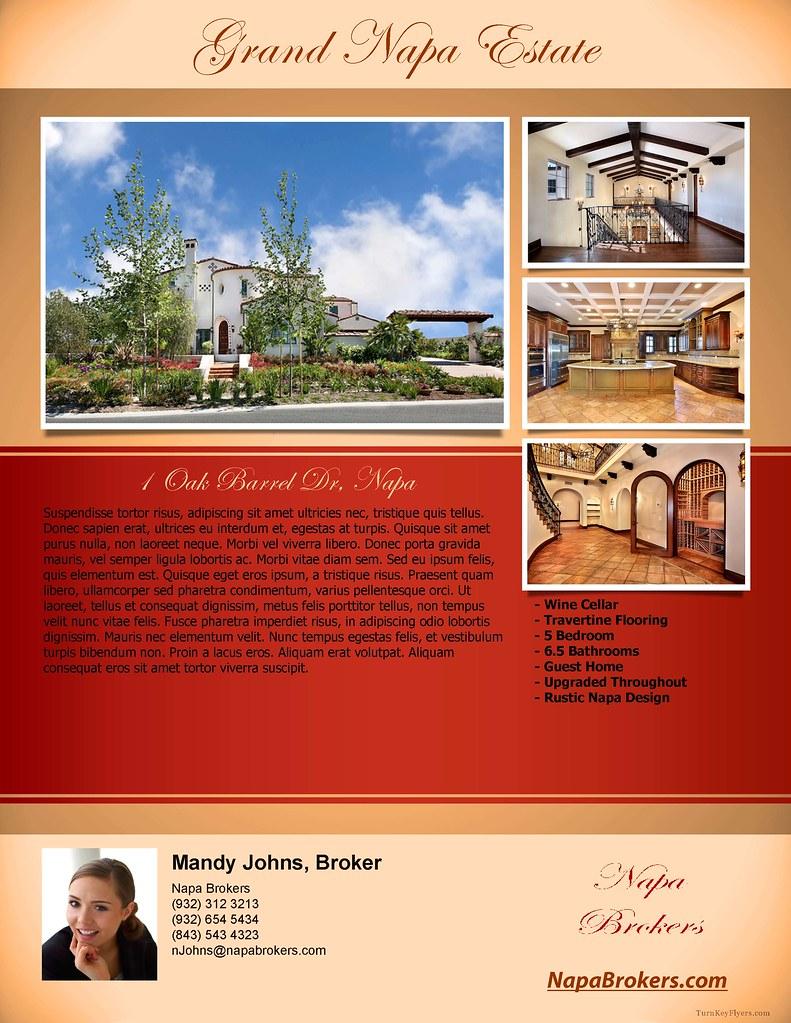 tf redsatin flyer template sample real estate marketing flickr