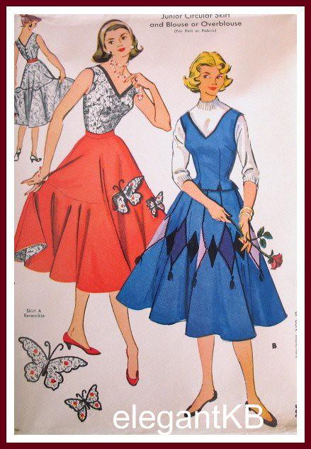 Fab 50s Dance Skirt Vintage Sewing Pattern Full Cirlce Sk Flickr