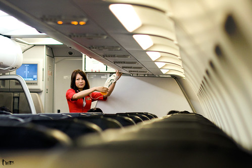 The Red Lady on board, AirAsia | by JasonDGreat