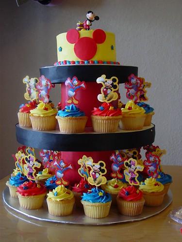 Mickey Mouse Cupcake Tower 4 Sweetandsassyinfl
