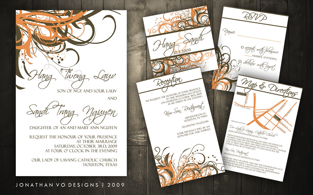 Wedding Invitations (Brown + Orange) | Please contact me for… | Flickr