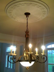 Dining Room Molding With Fireplacr