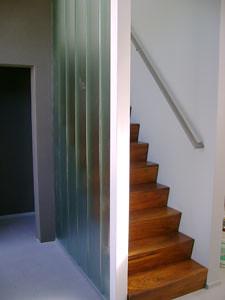 Escalera con ladrillos de vidrio diego fernandez mego - Escaleras de ladrillo ...