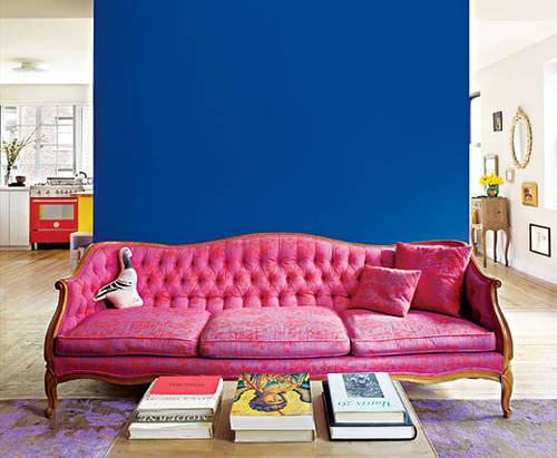 pink and blue living room | Heidi | Flickr