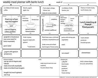 The Weekly Menu Planner With Bento Lunch form - example | by maki