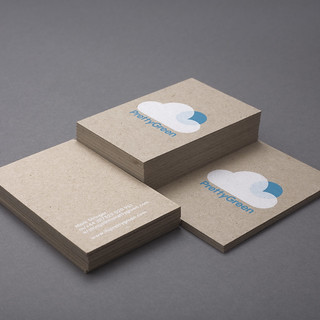 Pretty Green Business Cards | Design Friendship | by bobeightpop