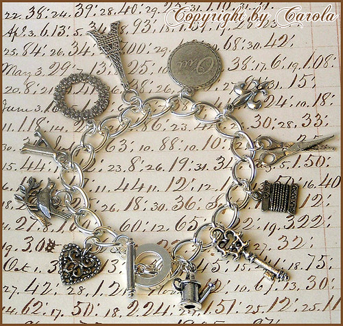 Custom-made charm bracelet | by Boxwoodcottage