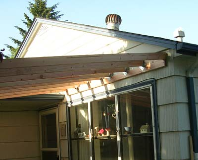 porch roof framing | The new porch roof rafters, impersonati… | Flickr