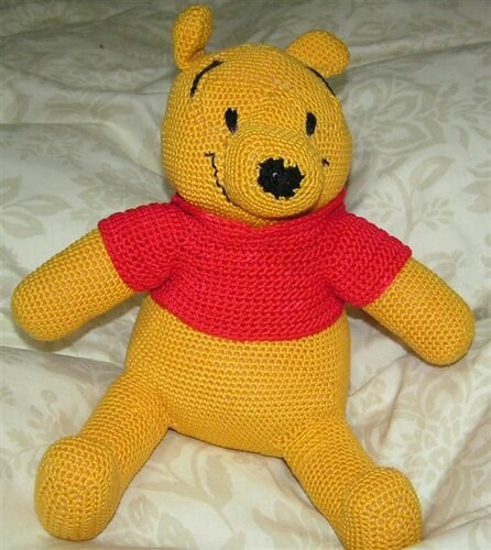 Winnie The Pooh Crocheted From A Cotton Yarn Made For My Flickr