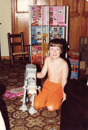Me with Star Wars AT-AT 1980s Christmas present_1982-12-25 | by Wampa-One