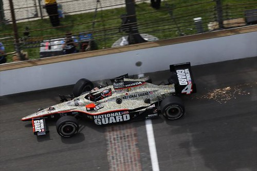 JR Hildebrand crosses the finish line despite his wreck on the final lap | by IndyCar Series