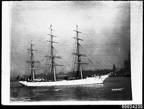 Image of the SS MERSEY at anchor in River Mersey, Liverpool UK | by Australian National Maritime Museum on The Commons