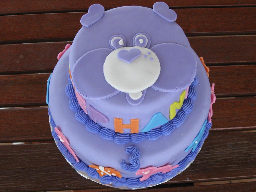 Purple Care Bear Birthday Cake A Care Bear Birthday Cake F Flickr