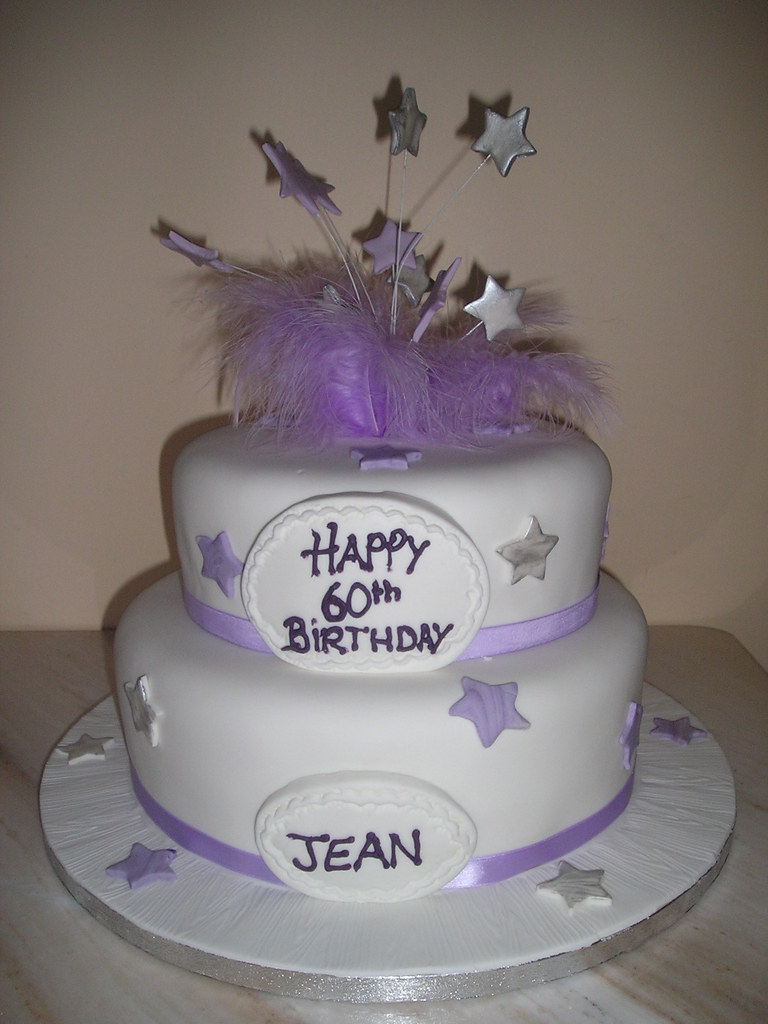 Two tier lilac birthday cake Two tiers of cake stacked on Flickr