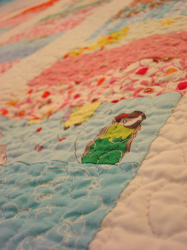 Baby Girl Coin Quilt - Detail | by alissahcarlton