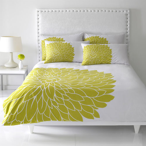 Duvet Cover With Bold Print In Lime More Info Image On M Flickr