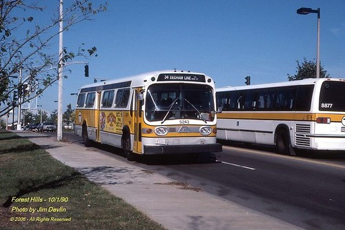 Mbta Rts Bus 8877 Gmc Fisbowl 5242 In The Late 80s Eraly