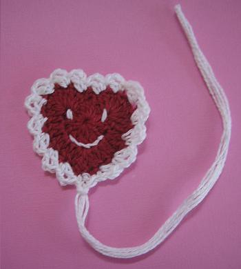 Happy Heart Bookmark | by crochetroo