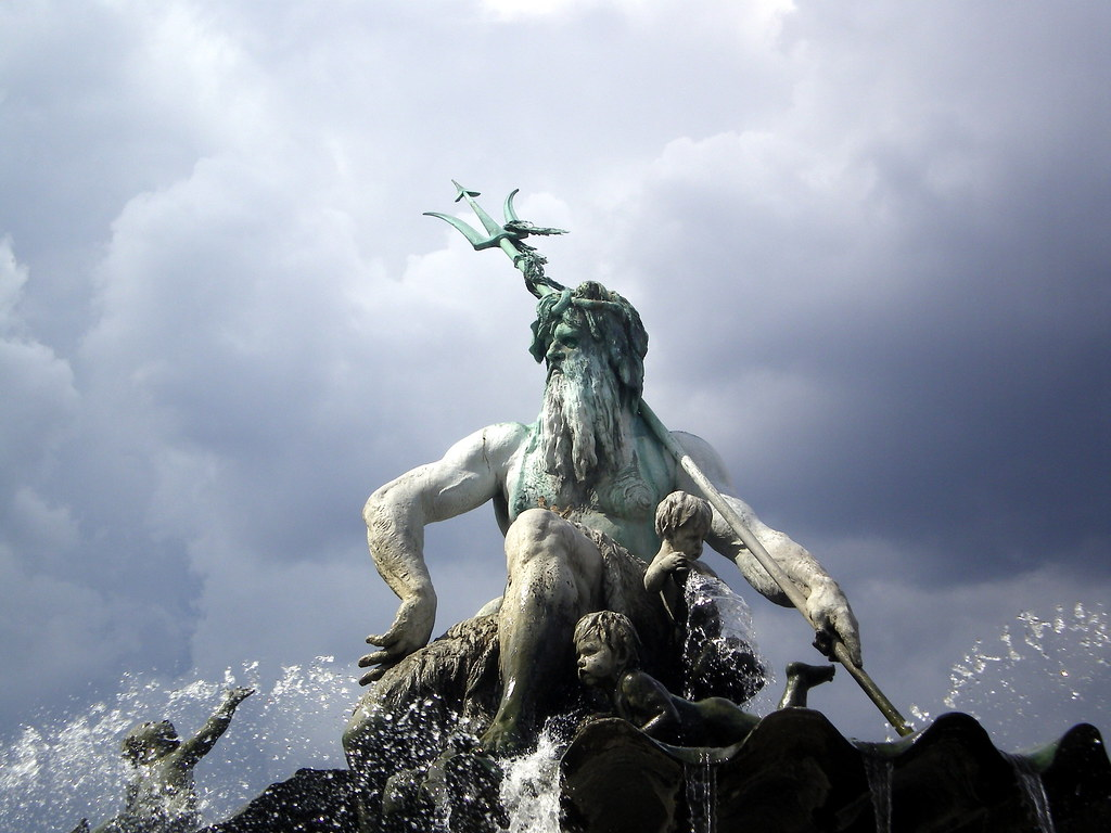 Poseidon Statue Wallpaper