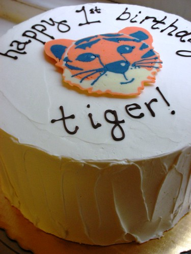 Tiger Birthday Cake With Frosting