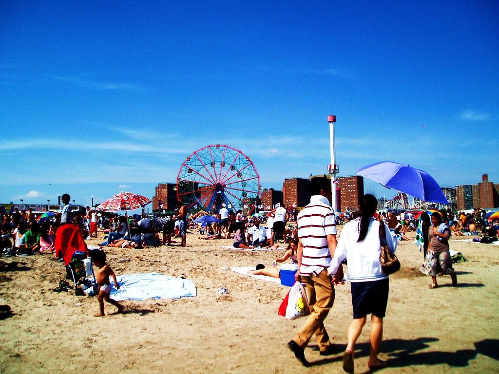 Coney Island Beach NYC Memorial Day