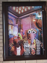 Miss Piggy, Kermit, Fozzie, Rizzo and Gonzo attraction poster at Muppet Vision 3D, Hollywood Pictures Backlot, Disney California Adventure®, Anaheim, California, 2009.05.24 14:55 | by Dr. Disney Wizard
