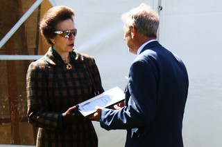 Princess Anne hands Les his 60 year Long Service Award, Suffolk Show, 1 June 2011 | by ed_needs_a_bicycle