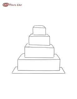 how to make a 4 tier square wedding cake 4 tier square cake template see size image here 15788