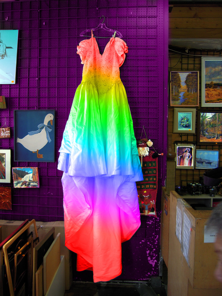 The Rainbow Wedding Dress | Was on a magenta hanger at San F… | Flickr