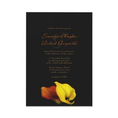 Calla Lily Wedding Invitation | by floraluniverses