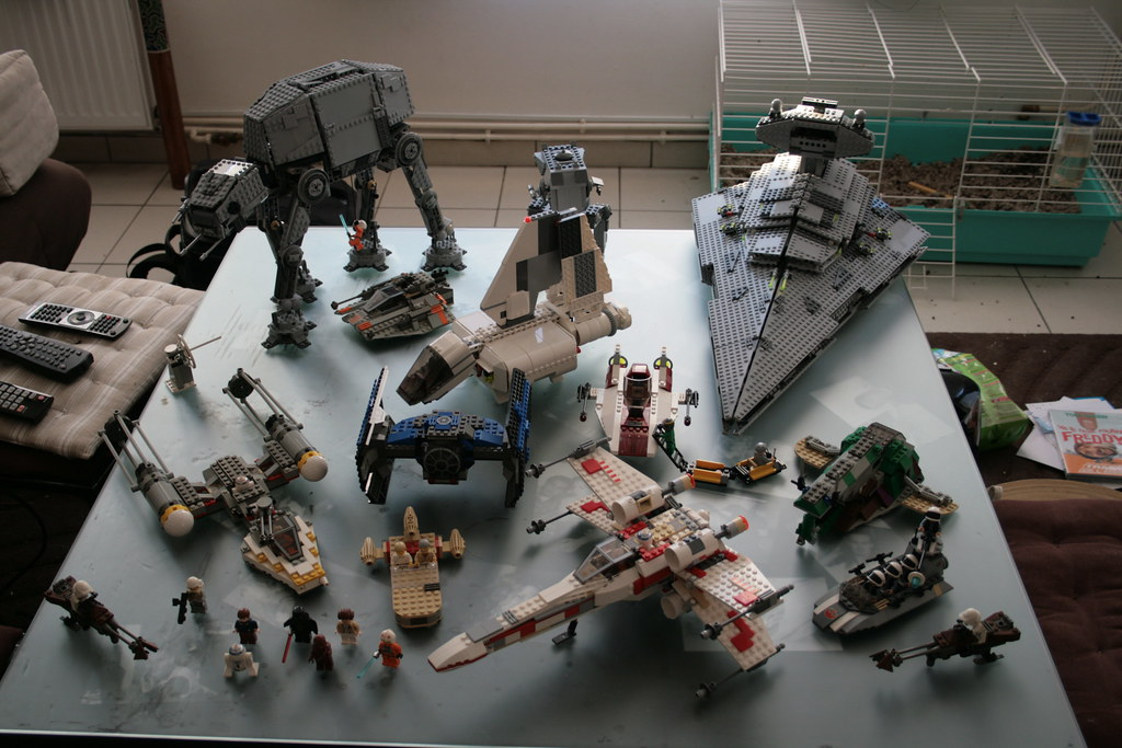 Lego Star Wars | Partial view of my Lego Star Wars collectio… | Flickr