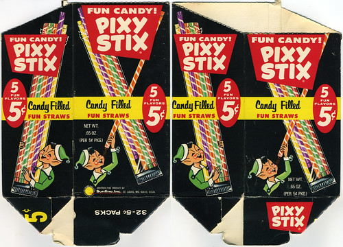 Pixy Stix 5-cent pack display box - Late 60's Early 70's | by JasonLiebig