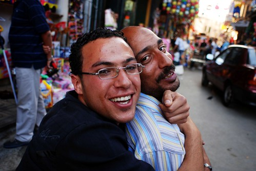 Super hug in Egyptian market | by Samer M