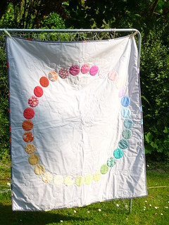 Bloggers Quilt Festival - Pixelated Colourwheel | by debs@makedoandmend