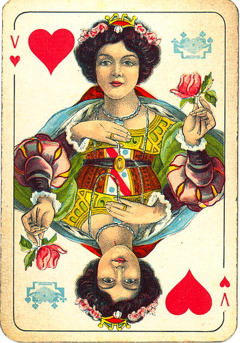 Dutch playing cards from 1920-1927: Queen of Hearts | by Michiel2005