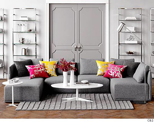 Artful Addition Best Gray Living Rooms Ideas On Pinterest: At CB2, An Offshoot Of Crate