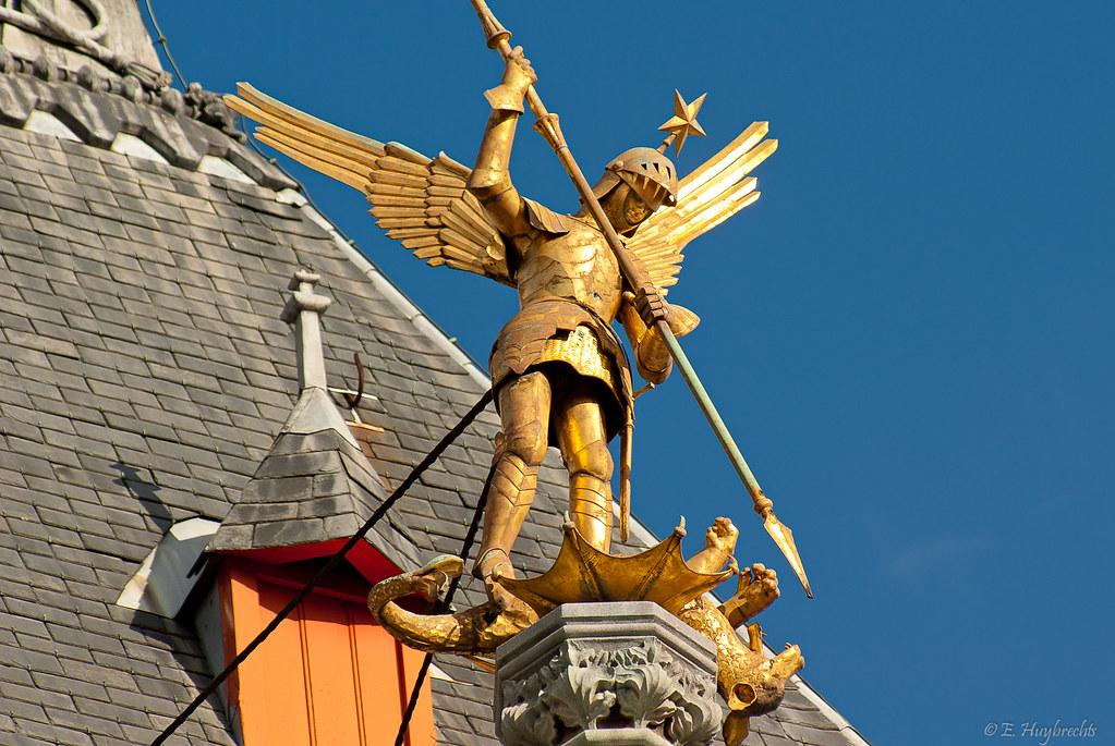 Golden Cross Stock Chart: A Golden Angel Kill the Evil Dragon (Bruges Belgium) | Flickr,Chart