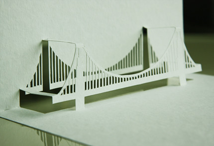 Yellowgoatdesign Paper Architect Golden Gate Bridge