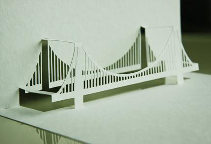 Yellowgoatdesign Paper Architect Golden Gate Bridge