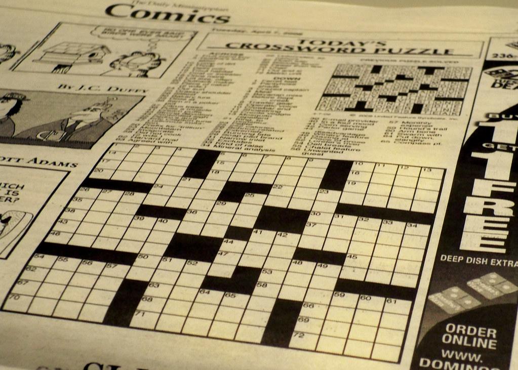 Newspaper Crossword Puzzle