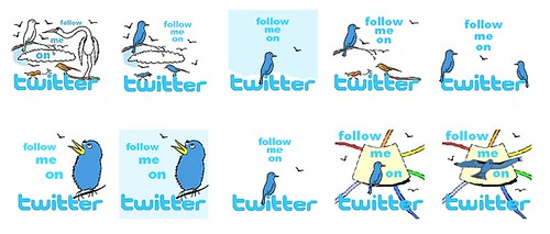 Free Follow Me on Twitter Logos | by mindmapinspiration