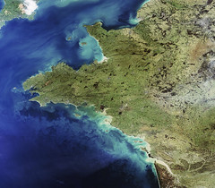 Western France observed by Envisat | by europeanspaceagency