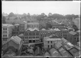 Lorne Street, Auckland, with Albert Park in the background, ca 1910 | by National Library NZ on The Commons
