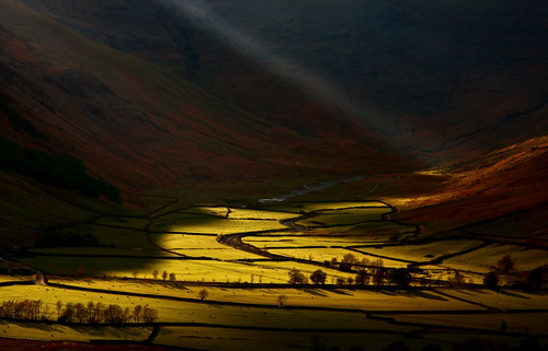 Final Rays of Light in Great Langdale Valley (Explored) | by sunstormphotography.com